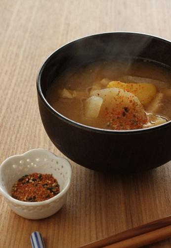 手作り七味にお味噌汁