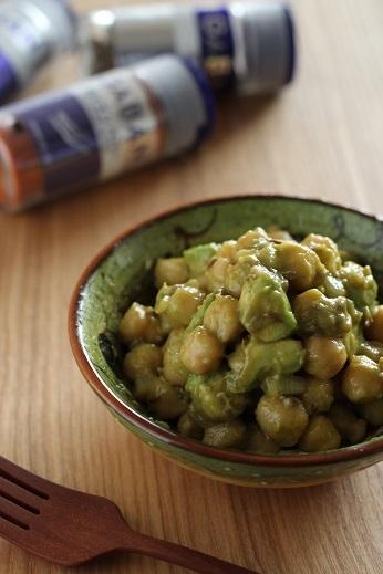 ひよこ豆とアボカドのサラダ1