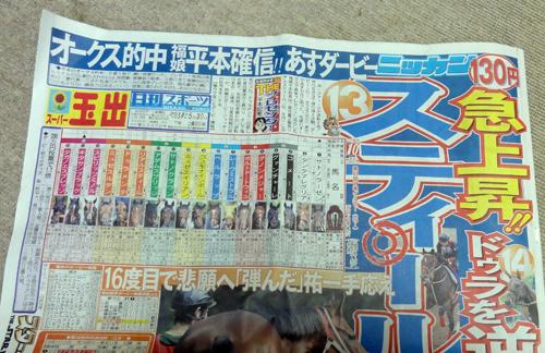 日刊スポーツ1面