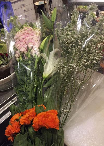 どーんとお花が