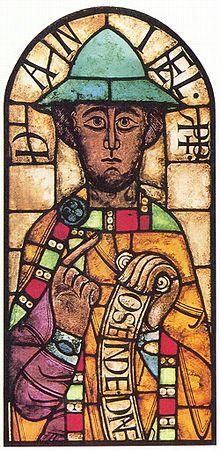 預言者ダニエルを描いたステンドグラス(アウクスブルク大聖堂、11世紀後半)