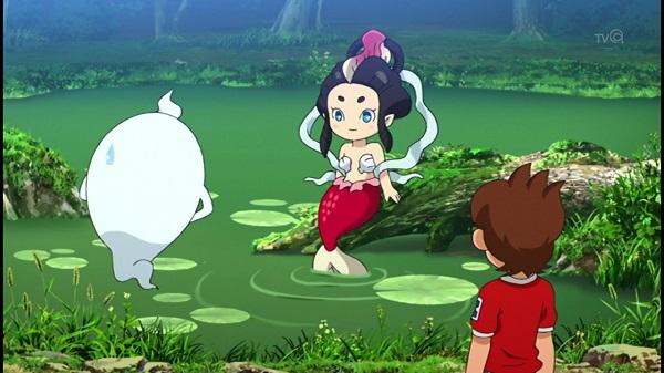 ゲームアニメ 妖怪ウォッチ 73話 感想 にんぎょ 古典妖怪