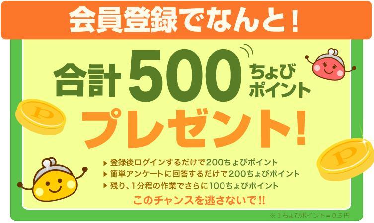 ちょび500pt