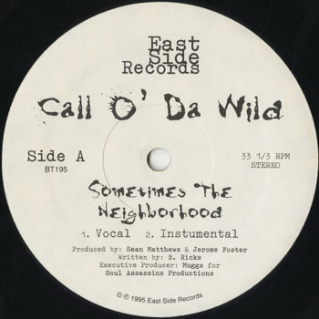 HH_CALL O DA WILD_SOMETIME THE NEIBORHOOD_201506