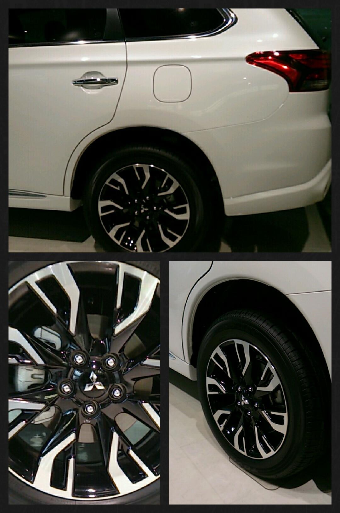 新型アウトランダーPHEV 2015 実車 ホワイト