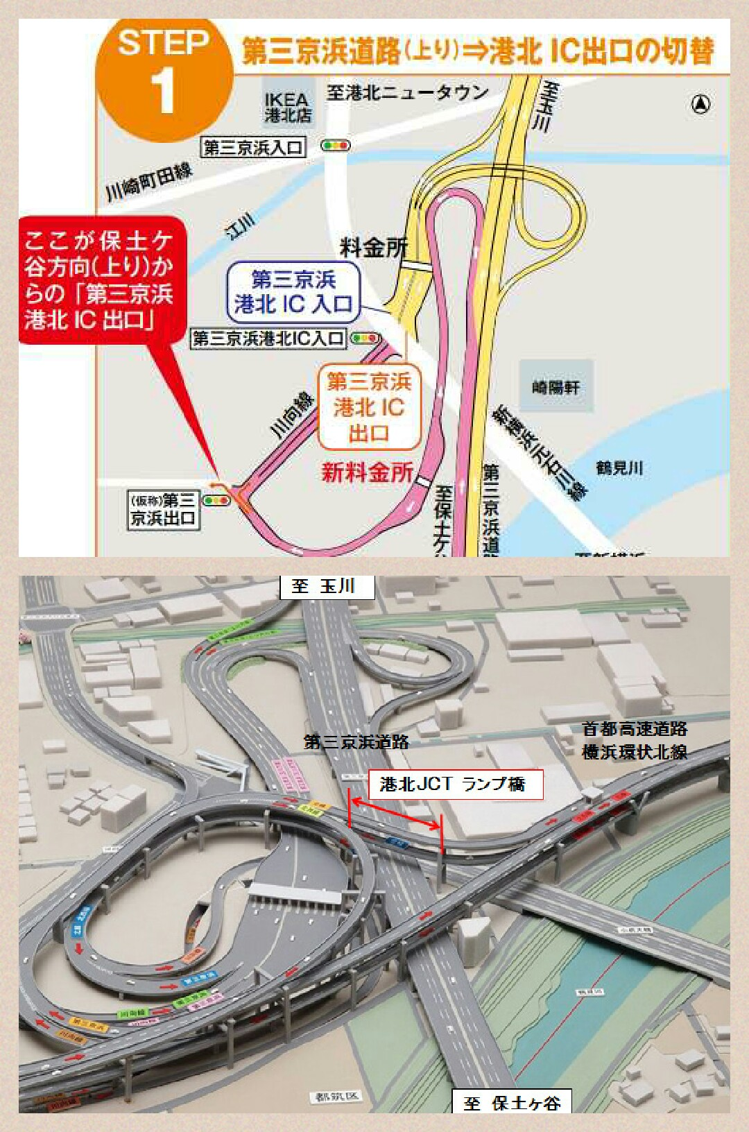 第三京浜 港北ic工事