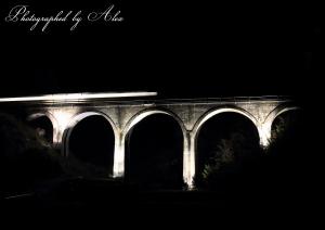 栗木野橋梁にて通過列車を撮る