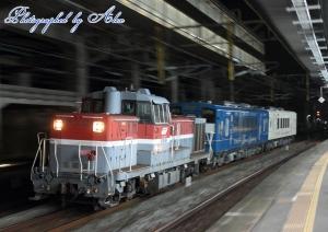 DE10-1614牽引、くま川鉄道甲種輸送