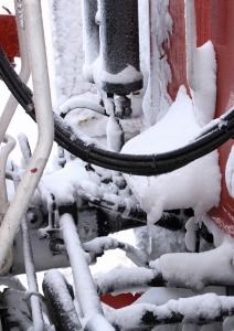 連結面も着雪