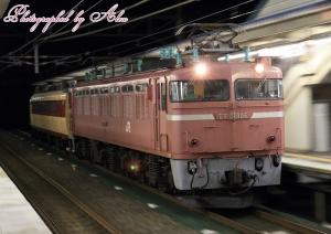 配9512レ(=EF81-106牽引、クハ489-1輸送)