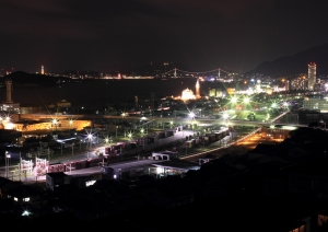 北九州貨物ターミナル駅をバルブ撮影