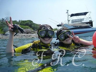 しまかぜ案内人とピピ島体験ダイビング