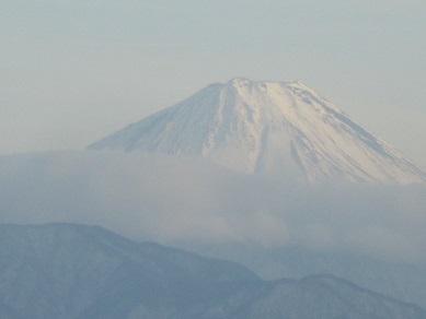 神の湯から富士山