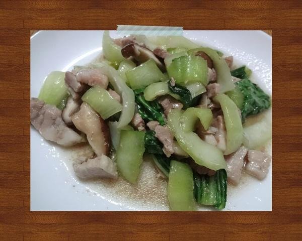 青梗菜と豚肉の中華炒め