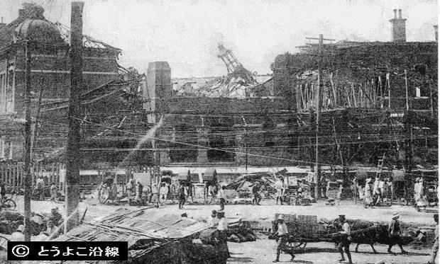 関東大震災で倒壊の2代目横浜駅