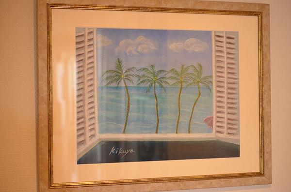 ハワイのホテルからの風景