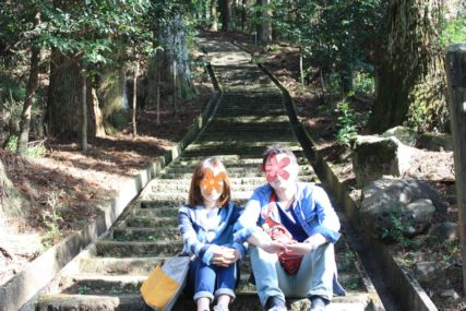 2015霧島神宮散策休憩