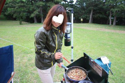 2015潮岬キャンプめしマキ調理2