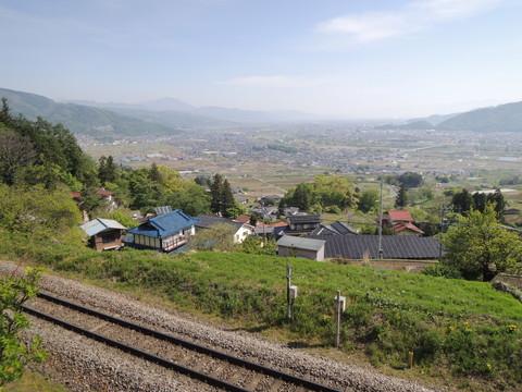 篠ノ井線姨捨駅からの景色