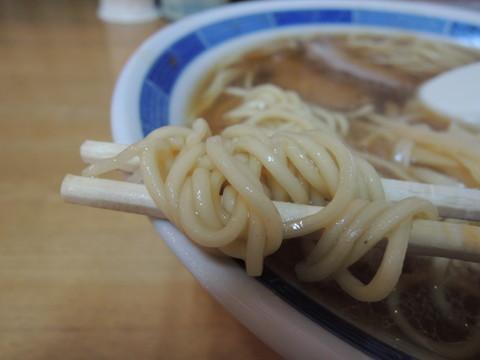 しょうがラーメンの麺