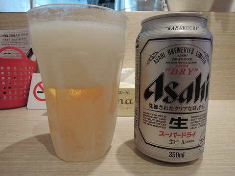 缶ビール(360円)
