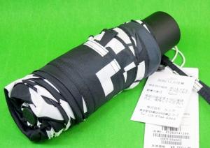 マリメッコ 折りたたみ傘 ロゴマニア