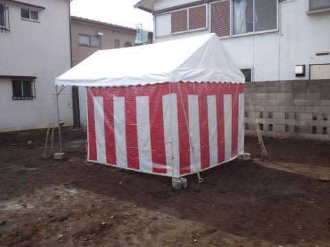地鎮祭用テント