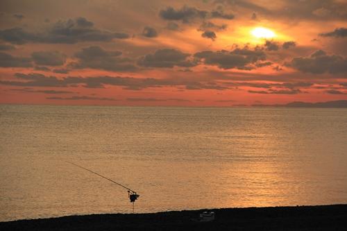 煙樹ヶ浜の夕日