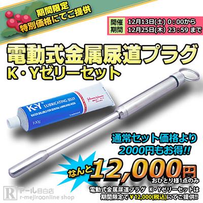 電動式金属尿道プラグ+K・Yゼリーセット