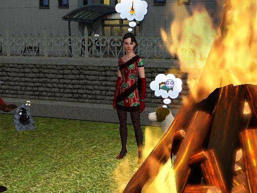 炎越しの美奈子さん