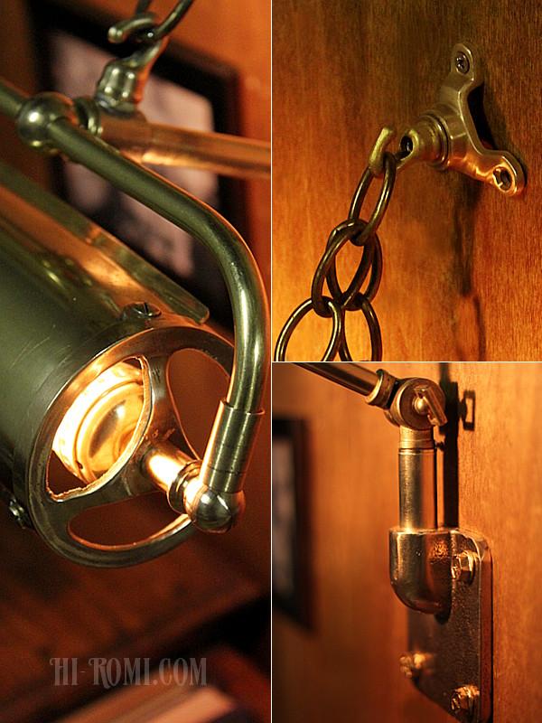 インダストリアル(工業系)真鍮製カスタムピクチャーライト
