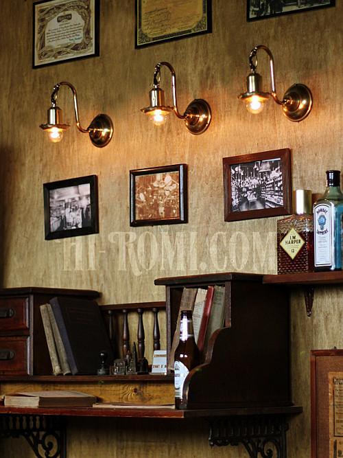 USAヴィンテージ花型カップ付き吊り下がりコロニアルブラケットランプA/ヴィクトリアンフラワー壁掛照明