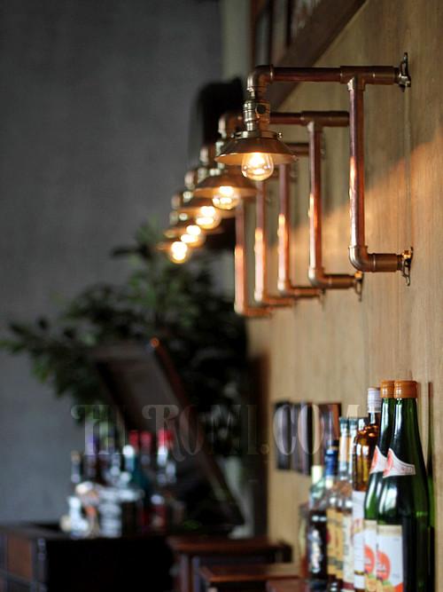 USAヴィンテージLEVITON社ファットボーイソケット付き2点固定式真鍮&銅製工業系ブラケット/インダストリアルスチームパンク壁掛照明ウォールランプ