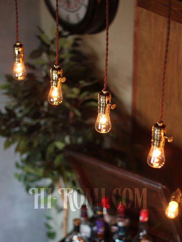 真鍮製ソケットLEVITON社製ランプ照明