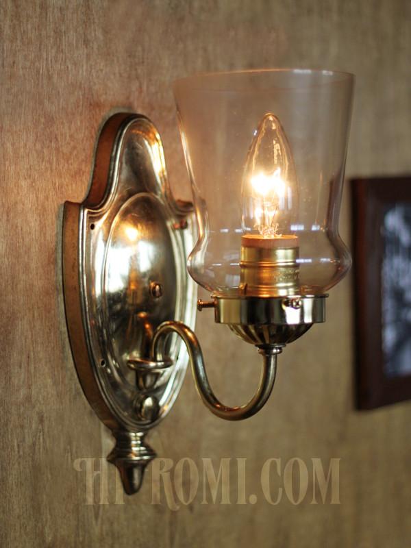 ヴィンテージコロニアルクリアガラスチムニーシェードブラケットランプ/ヴィクトリアンハリケーン壁照明