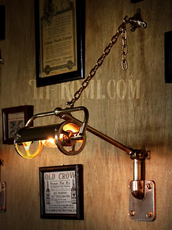 LEVITON brass picture lamp vintage custom 真鍮製ピクチャーライト アンティーク カスタム