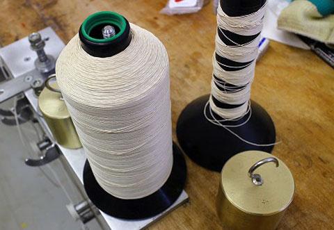 新しい麻糸