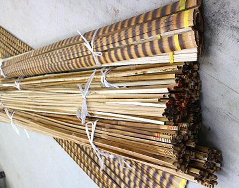竹割り済竹辺