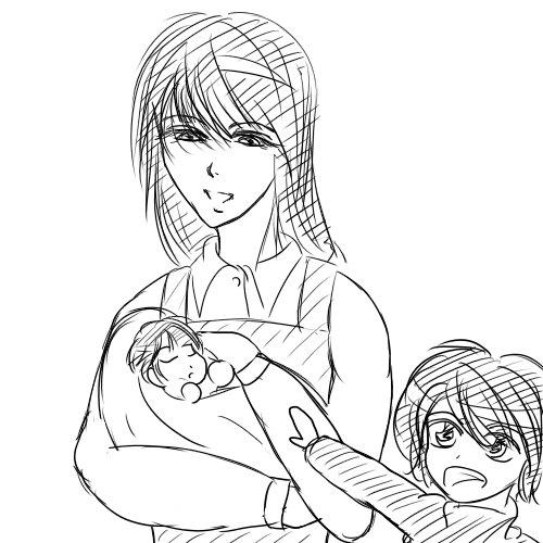母の日ステラと子供達