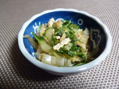白菜と水菜の煮ひたし