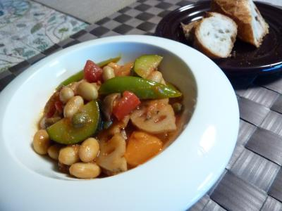 彩り野菜のチリビーンズ
