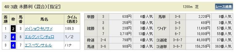 【払戻金】0613阪神4(日刊コンピ 馬券生活 的中 万馬券 三連単 札幌競馬)