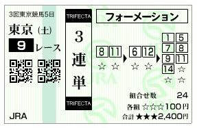 【馬券】0620東京9(日刊コンピ 馬券生活 的中 万馬券 三連単 札幌競馬)