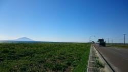 利尻富士を眺める