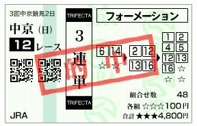 【的中馬券】0705中京12(日刊コンピ 馬券生活 的中 万馬券 三連単 札幌競馬)