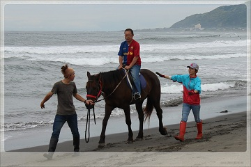 H27060609馬と一緒にゴミゼロ運動