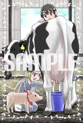 酪農みるく!コミックス販促イラスト0002