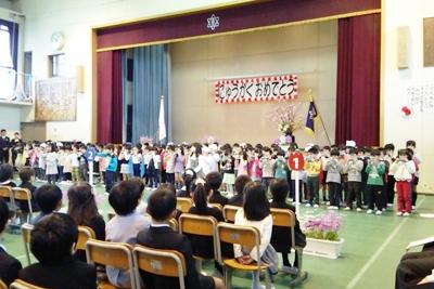 東佐小入学式150407