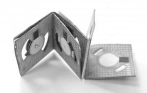 Origami batteries