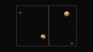 Color image pluto and charon